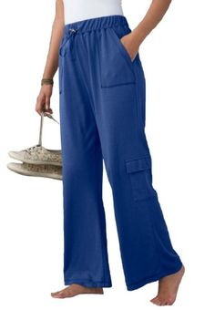 Only Necessities Plus Size Soft knit petite cargo pants $21.99 - $24.99