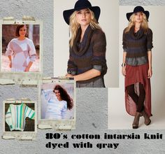 Overdye ugly pastel color blocked sweaters with gray dye
