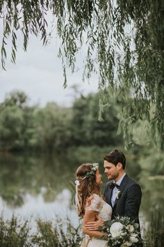 Magical lakeside couple moment from this unforgettable organic affair | Hartman Outdoor Photography