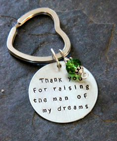 Personalized Keychain Thank you for Raising by whiteliliedesigns