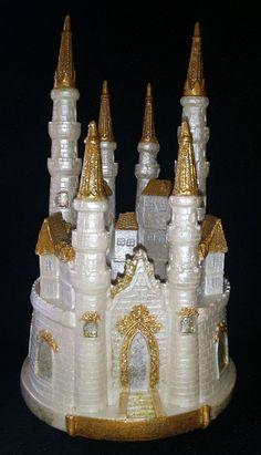 princess wedding castle cake topper castle birthday party decor birthday girl cake party decoration - Blue Castle Decor