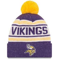 954e55a2a1e Minnesota Vikings New Era Youth Toasty Cover Pom Cuffed Knit Hat - Purple