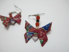 Hey, I found this really awesome Etsy listing at https://www.etsy.com/listing/185904576/red-origami-butterfly-earrings-paper
