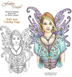 angel blessing fairy tangles printable coloring pages and coloring sheets by norma burnell angels to color adult digital coloring angels tangled