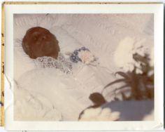 Original Vintage Polaroid Photo Post Mortem