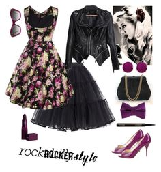 """""""Rock Style I - Rockabella"""" by confusioninme ❤ liked on Polyvore featuring Valentino, Patrizia Pepe, Lipstick Queen, BillyTheTree and Miu Miu"""
