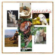 Designer Clothes, Shoes & Bags for Women Collage Art, Friendship, Teddy Bear, Shoe Bag, Polyvore, Animals, Design, Women, Animais