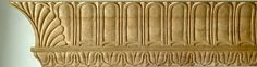 Neo classical (Federal) cavetto molding hand carved in wood