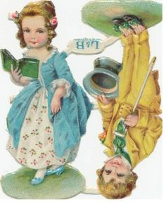old victorian scraps nice couple boy and girl