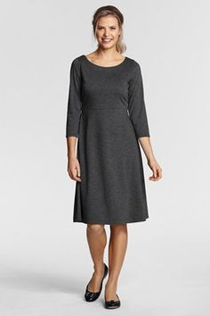 Simple, everyday dress. But I wish it were v-neck.