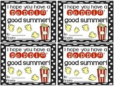 FREEBIE Popcorn End of the Year Cards Fun, inexpensive, and simple gifts for your students at the en Student Gifts End Of Year, Student Teacher Gifts, End Of School Year, Teacher Appreciation Gifts, School Fun, Student Treats, Teacher Tools, School Days, Popcorn Theme