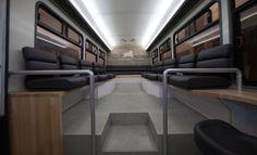 t la start-up Leap outre-Atlantique. Basée à San Francisco, elle offre connexion WiFi, ports USB et espaces de travail dans ses bus