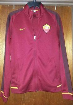 Nike FCB Soccer Futbol Roma Warm Up Jacket Coat Track Zip Up Red Size S f1f181806d05f