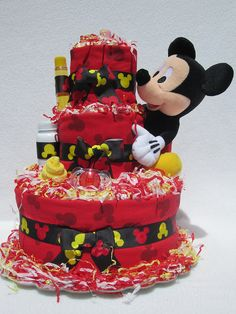 mickey mouse baby shower | Mickey Mouse Baby Diaper Cake Shower Gift Newborn Present | Flickr ...