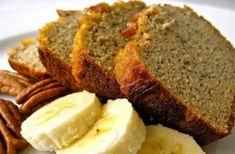 Organic Banana Nut Bread Recipe with coconut flour - Whole Lifestyle Nutrition Coconut Flour Banana Bread, Moist Banana Bread, Banana Bread Recipes, Coconut Oil, Muffin Recipes, Real Food Recipes, Cooking Recipes, Yummy Food, Coconut Flour