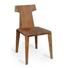 Eye Chair made in solid teak. Good for indoors and outdoors.