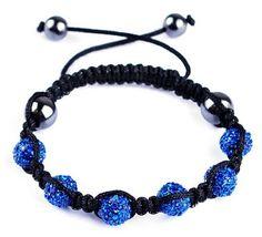 45mm Royal Blue Fashion Noble Resin Crystal Disco Ball Bracelet Fashion Charms Jewelry