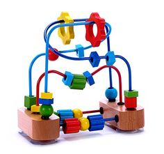 Bead Maze Activity Cube Wooden Toy for Babies, Toddlers - Small Wood Roller Coaster Sliding Beaded Balls On Sturdy Wire Frames w/ Suction Cups - Classic First Developmental Toy for 1 & 2 Year Olds. For price & product info go to: https://all4babies.co.business/bead-maze-activity-cube-wooden-toy-for-babies-toddlers-small-wood-roller-coaster-sliding-beaded-balls-on-sturdy-wire-frames-w-suction-cups-classic-first-developmental-toy-for-1-2-year-olds/