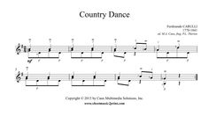 Country Dance, Music Download, Sheet Music, Guitar, Guitars, Music Sheets