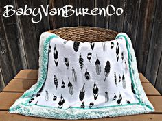 A personal favorite from my Etsy shop https://www.etsy.com/listing/536311906/babysizeshipsnow-feather-minky-baby