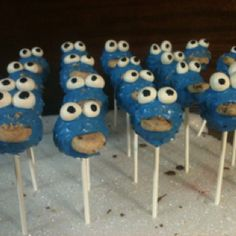 Cookie Monster!  I made these for a little boy's 1st birthday party.