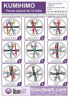 Kumihimo: Trenza espiral de 12 hilos