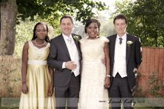 The bride and groom with the best man and maid of honour.  Photography by Lorah Kelly | www.lorahkelly.co.uk