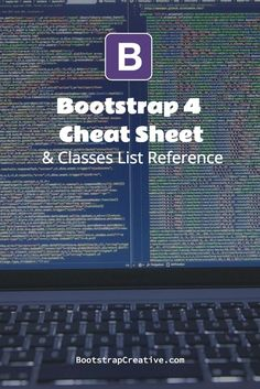 Bootstrap 4 CSS Framework Cheat Sheet & Classes List Reference PDF #webdesign