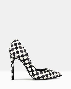 f32ce3fb1067 Blossom Checkered Print Stiletto Pumps