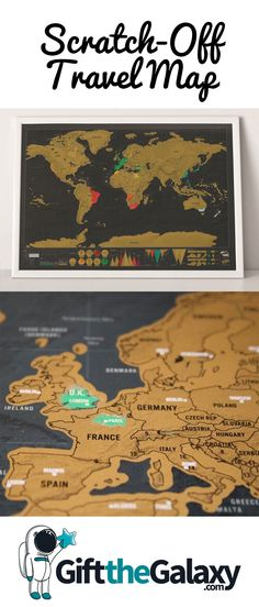 World Scratch-Off Travel Map >> Colorful, Beautiful and Perfect for Remembering Everywhere You've Traveled! Travel Bucket List Goals Gift for Traveller Traveler Lovers Poster Journey Desk Office Bedroom Dorm Room Quest Adventure Adventurer Home Décor Decorative Color Tracker Map Space Gift Ideas Cool Space Gifts Unique Gift Cool Gift Ideas for Space Lovers Astronomy Teachers Science #GiftTheGalaxy