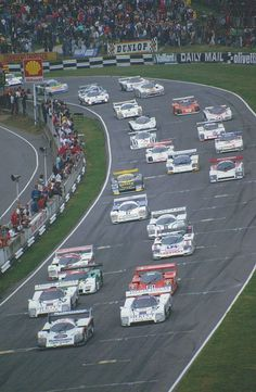 Group C 1000km race start - Brands Hatch 1986