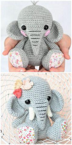 Crochet Baby Toys, Crochet Amigurumi Free Patterns, Crochet Animal Patterns, Crochet Bunny, Stuffed Animal Patterns, Cute Crochet, Crochet Crafts, Crochet Dolls, Crochet Projects