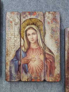 Immaculate Heart of Mary Immaculate Heart of Mary Blessed Mother Mary, Divine Mother, Blessed Virgin Mary, Religious Images, Religious Icons, Religious Art, Jesus E Maria, Images Of Mary, Lady Of Fatima