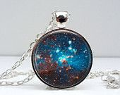 Outer Space Necklace: Space Sparkle. Universe. Galaxy. Space. Gift for Her. Jewelry. Handmade. Necklace. Pendant. Lizabettas