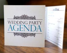 CUSTOM Wedding Party Agendas. $20.00, via Etsy.
