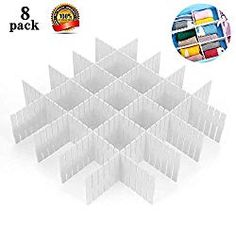 Buy ShineMe DIY Plastic Grid Drawer Divider Household Storage Thickening Housing Spacer Sub-Grid Finishing Shelves for Home Tidy Closet Stationary Makeup Socks Underwear Scarves Organizer (White) Dresser Drawer Organization, Diy Drawer Organizer, Scarf Organization, Drawer Dividers, Organize Dresser, Organizers, Cardboard Drawers, Plastic Drawers, Diy Drawers