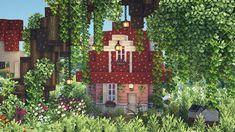 Minecraft Farm, Minecraft Cottage, Cute Minecraft Houses, Minecraft Plans, Minecraft House Designs, Minecraft Construction, Amazing Minecraft, Minecraft Tutorial, Minecraft Blueprints