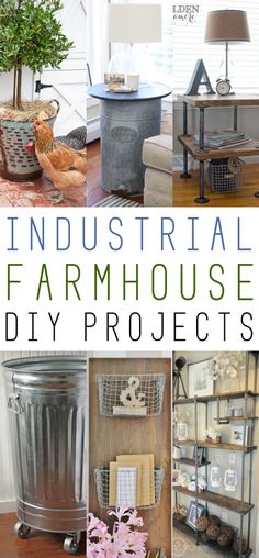 Industrial farmhouse diy, need the hamper and the table made of pipes, the wood is already waiting If you love the Farmhouse Style.you are going to adore this collection of Industrial Farmhouse DIY Projects! From Galvanized Steel to Industrial Pipes! Farmhouse Design, Rustic Farmhouse, Farmhouse Style, Cottage Farmhouse, Farmhouse Ideas, Industrial Interiors, Industrial House, Vintage Industrial, Industrial Office