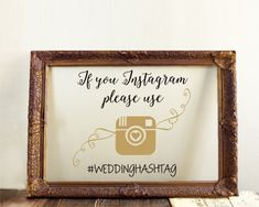 If You  Instagram Please Use Weddinghastag Custom by RoyalBrides