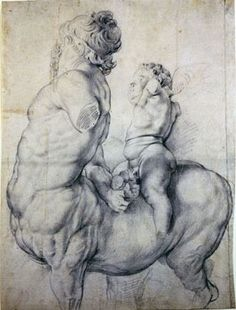 Peter Paul Rubens drawing Centaur Tormented by Cupid