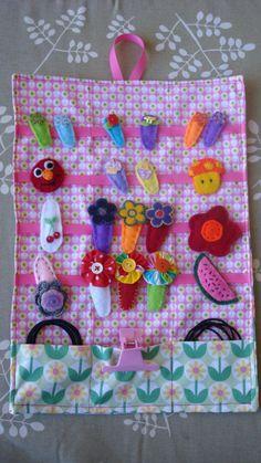 EmBelISH Hair Clip Holder - Daisy Fabric