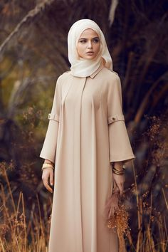 Abaya is delicate and elegant piece that polish feminine look for the purpose of modesty. Now modern Abaya is delicate and elegant piece that polish feminine look for the purpose of modesty. Now modern Hijab Outfit, Hijab Dress, Muslim Women Fashion, Islamic Fashion, Womens Fashion, Ladies Fashion, Outfits Casual, Mode Outfits, Fashion Outfits