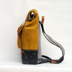 Camper Satchel, Wool Felt Backpack by Sketchbook