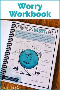 Worry Management Workbook - Help your students explore what worry is, how worry affects the brain, the physical experience of worry, and effective strategies for dealing with worry at school and at home with these worry activities. This workbook is full o Elementary School Counseling, School Social Work, School Counselor, Elementary Schools, Coping Skills, Social Skills, Life Skills, Skills List, Counseling Activities
