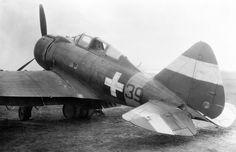 Photo: Hungarian fighter Re.2000 Heja Sergeant F. Cash at the Tapolca aerodrome [2]