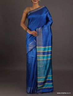 Padmini blue and blue smart #Bhagalpurisilksaree