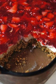 Judy's Strawberry Pretzel Salad Recipe ~