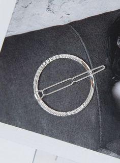 Round Hair Clip Silver | Princess Polly