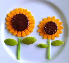 Cheese-Petal Sunflowers