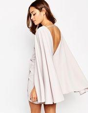 ASOS Extreme Cape Knot Front Mini Dress
